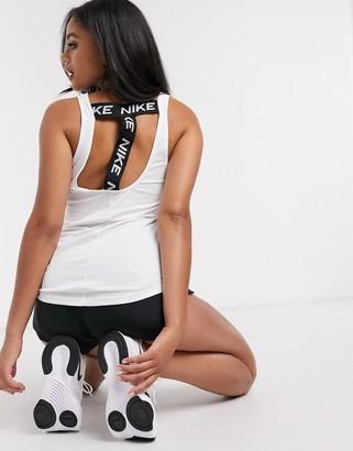 Nike Training Nike Pro Training victory elastika tank in white
