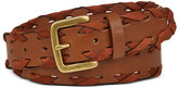 INC International Concepts Mixed Media Whipstitch Pants Belt, Only at Macy's
