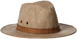 Ale By Alessandra Women's Jaxson Adjustable Vintage Washed Canvas Hat with Suede Trim and UPF 50+