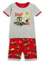 Hatley Toddler's, Little Boy's & Boy's Two-Piece Truck Printed Tee & Shorts Pajama Set