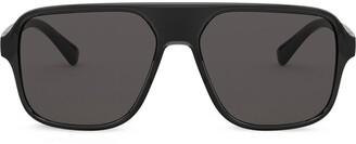 Dolce & Gabbana Eyewear Logo-Embossed Square-Frame Sunglasses