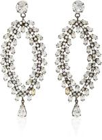 Jennifer Behr Josephine Gunmetal-Plated Swarovski Crystal Earrings