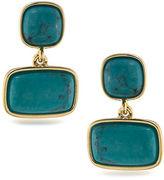 Lauren Ralph Lauren Lauren Treasure Trove Turquoise and 12K Gold-Plated Double Drop Pierced Earrings