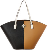 Tory Burch Mcgraw Colorblocked Leather Shopper Tote
