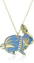 """Mercedes Salazar Enchanted Forest"""" Ungraved and Resined Hand Made Bunny Necklace"""