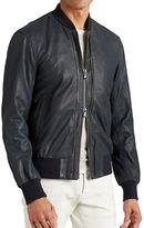John Varvatos Star U.S.A. Leather Bomber Jacket