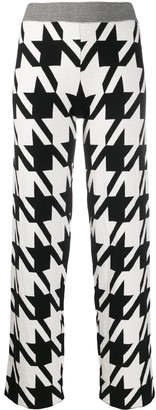 Philo Sofie Houndstooth Print Knit Trousers