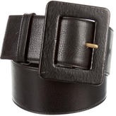 Saint Laurent Leather Wide Belt