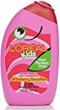 L'Oreal Kids 2-in-1 Shampoo for Extra Softness, Strawberry Smoothie, 9-Fluid Ounce