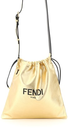 Fendi PACK MEDIUM POUCH ROMA OS Gold Leather