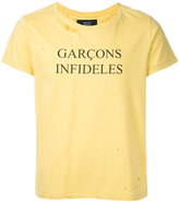 Garcons Infideles - brand logo T-shirt - men - Cotton - XS