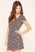 Forever 21 Floral Print Button-Down Dress
