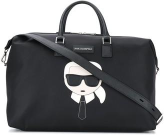 Karl Lagerfeld Paris Logo Patch Weekender Bag