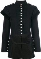 Burberry military style jacket - women - Cotton/Polyamide/Acetate/Wool - 8