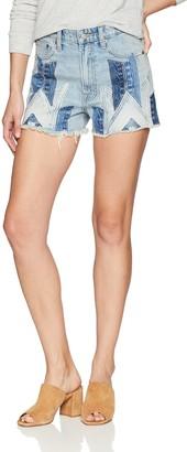Lucky Brand Women's HIGH Rise Lucky PINS Jean Short in Motif
