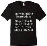 Lego Men's Snowmobiling Instructions T-Shirt 3XL