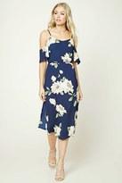 Forever 21 FOREVER 21+ Floral Open-Shoulder Midi Dress