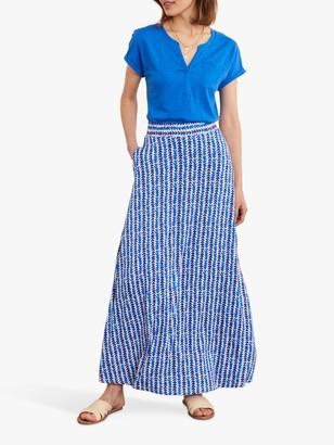 Boden A-Line Abstract Print Maxi Skirt, Blue Petal Arrow
