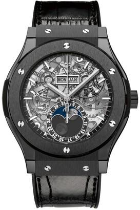 Hublot Classic Fusion 45mm Moonphase Black Magic Watch