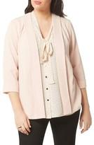 Evans Plus Size Women's Crepe Open Front Jacket
