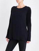 Y-3 Y3 Ladies Black Striped Modern Lux Cotton-Jersey Top