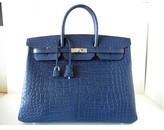 Hermes pristine (PR Bleu de Malte Matte Alligator 40cm Birkin Bag with Palladium Hardware