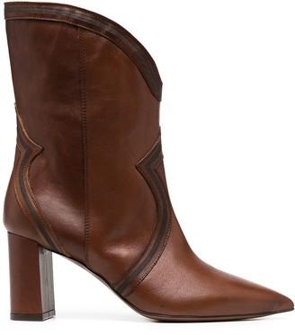 L'Autre Chose Pointed Leather Boots