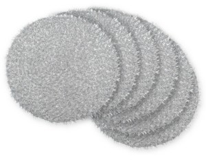 Tinsel Round Woven Placemat, Set of 6
