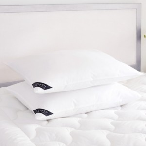 J Queen New York Royalty 233 Thread Count Cotton Allergen Barrier Down Alternative Pillow 2 Pack - Standard/Queen - Soft