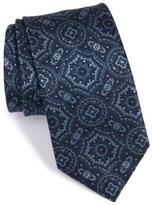 Brioni Medallion Woven Silk Tie
