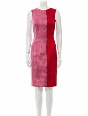 Oscar de la Renta 2018 Knee-Length Dress Red