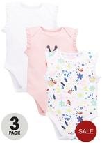 Ladybird Baby Girls 3pk Floral Sleeveless Bodysuits