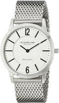 Stuhrling Original Men's 122.33112 Classic Ascot Somerset Elite Swiss Quartz Ultra Slim Stainless Steel Mesh Bracelet Watch