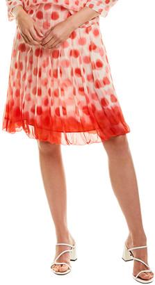Leggiadro Silk Mini Skirt