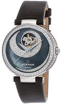 Eterna 2943-58-89-1368 Women's Grace Diamond Automatic Black Satin and MOP