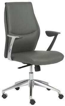 Wade Logan Waylon Task Chair Upholstery Color: Gray