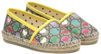 Gucci Kids GG Hearts canvas espadrilles