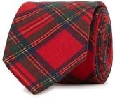 Eton Red Tartan Wool Tie
