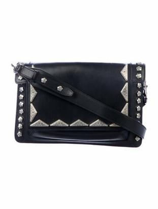 Isabel Marant Stud-Embellished Leather Crossbody Bag Black
