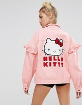 Lazy Oaf X Hello Kitty Denim Jacket With Back Patch