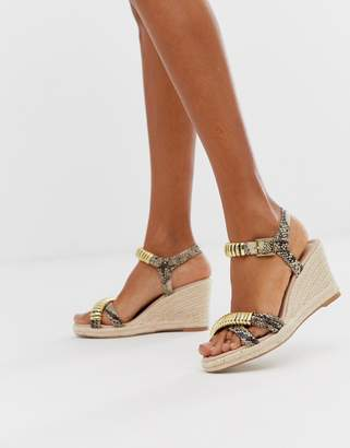 Carvela asymmetric heeled espadrille-Beige