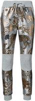 Philipp Plein Poenia tiger jacquard track pants