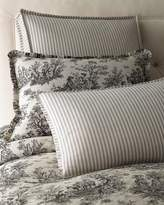 "Legacy Sydney Square Toile Pillow with Piping, 18""Sq."