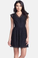 Miss Me Lace Fit & Flare Dress