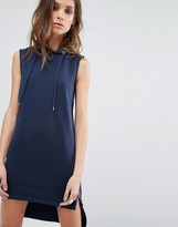 Noisy May High Low Sweat Dress with Side Zip