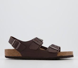 Birkenstock Milano Sandals Saddle Matt Brown Vegan