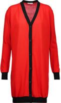 Tomas Maier Asymmetric two-tone cotton cardigan