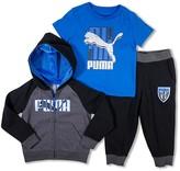 Puma Boys' Hoodie, Tee & Sweatpants Set - Sizes 2T-3T