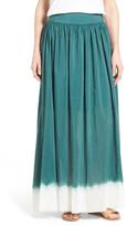 Nic+Zoe Dip Dye Silk Blend Maxi Skirt