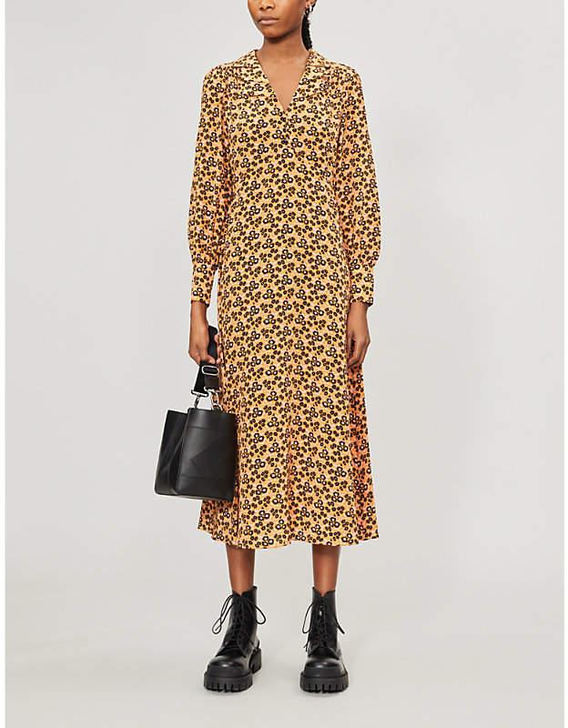 McQ Kama floral-print silk midi dress